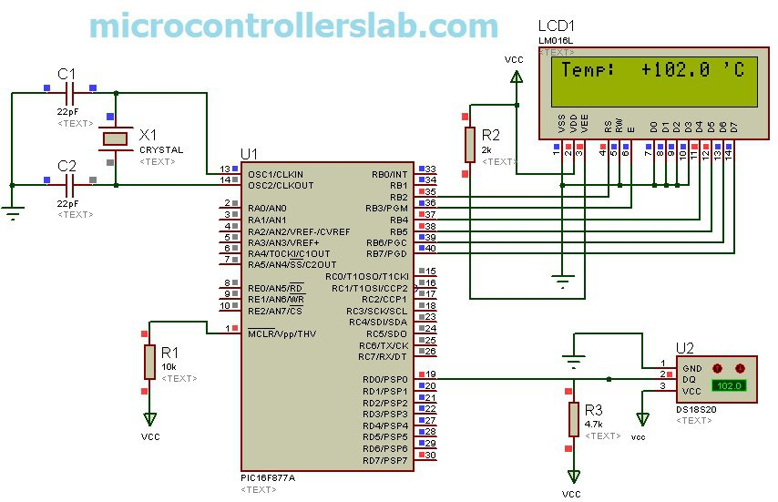 Ds18s20 Interfacing With Pic And Avr Microcontroller