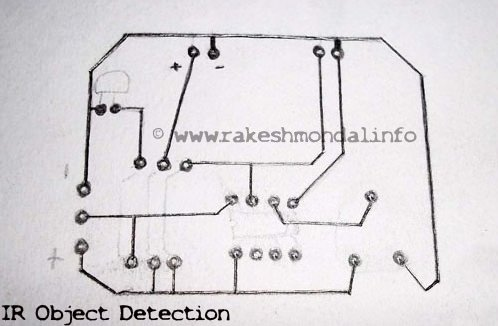 Infrared  Object Detection Module Circuit Using IR LED and Photodiode schematic
