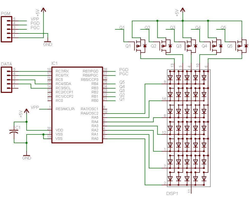 LED Matrix Backpack schematic