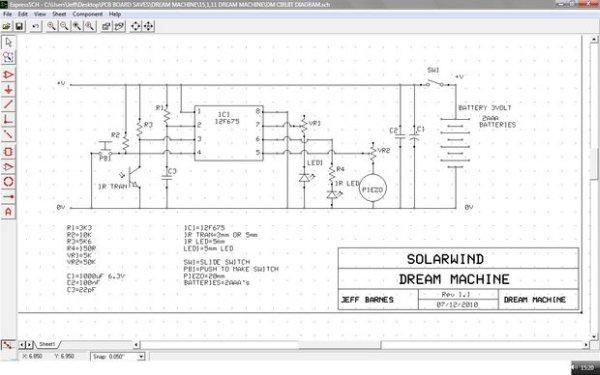 Lucid Dream Dream Recall Machine using infrared schematic