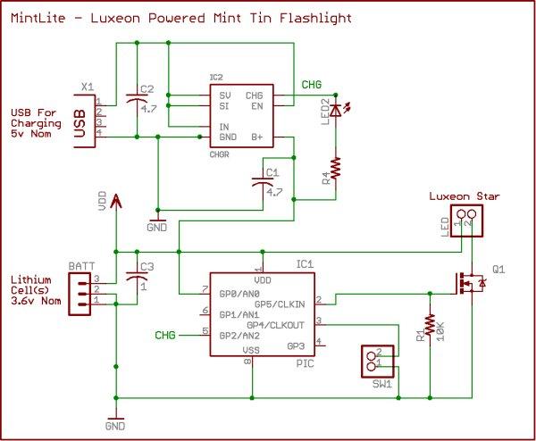 MintLite Part I schematic
