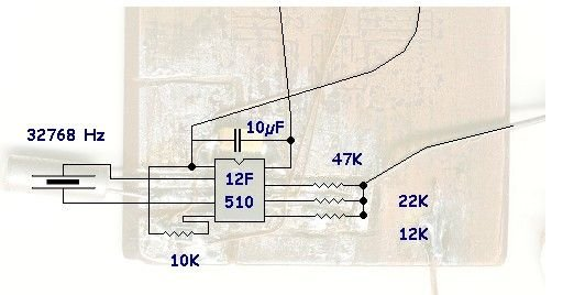 Oscilloscope clock schematic