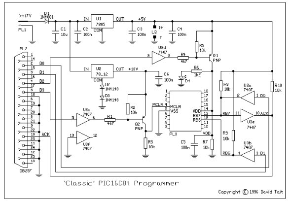 PIC Programmer and Programming schematic