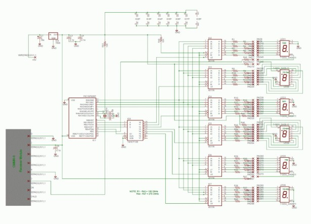 PIC based WWVB clock schematich