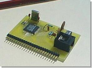 PIC16C74 Embedded 10BaseT Ethernet CS8900