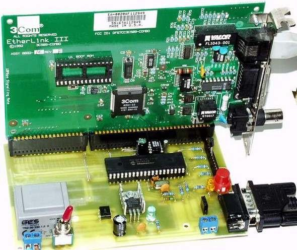 PIC16F877 ISA Ethernet Web Server Project