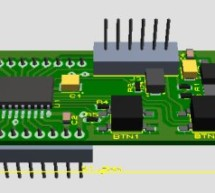 Self-made development board for the 32-bit PIC32MX220F032B Microcontroller