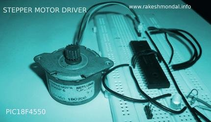 Stepper Motor Driver using PIC18F4550 Microcontroller