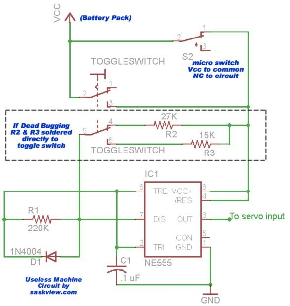 The Most Useless Machine EVER! schematic