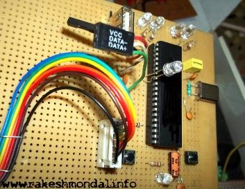 USB Interface Demo Board Using PIC18F4550