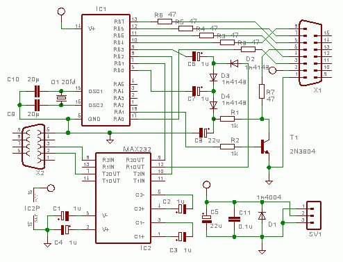 Wisp628 an in-circuit flash PICmicro Programmer schematich