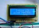 3-Wire Serial LCD using a Shift Register