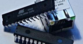 An AVR microcontroller based Ethernet device