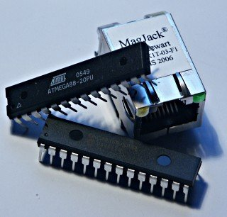 An AVR microcontroller based Ethernet device