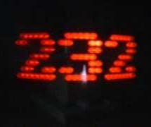 Mechanically scanned RS232 display (with dynamic speed)