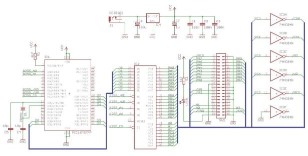 PIC microcontroller ATA library schematic