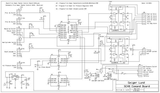Re-Doing my Design for a circuit to control an invention using a Microchip PIC microcontroller chips. schematic