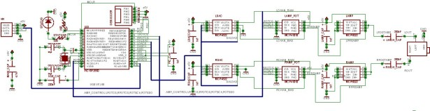 USB Audio Streamer A Microchip PIC based USB sound card schematic