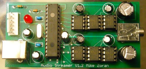 USB Audio Streamer A Microchip PIC based USB sound card