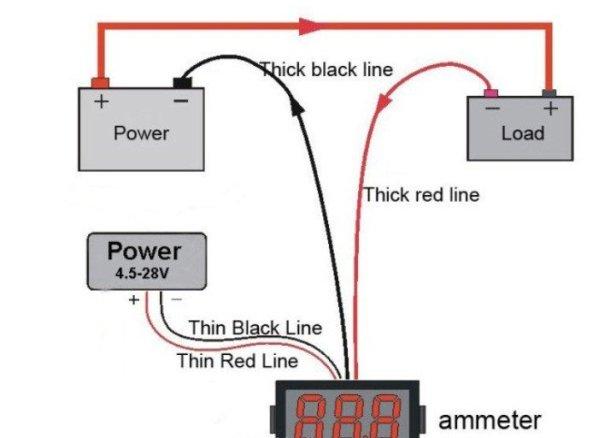 Voltmeter Ammeter Kit - Blue Backlight LCD schematic