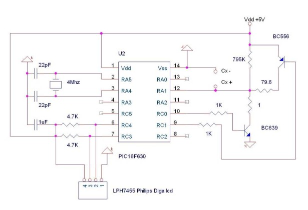 pic-microcontroller schematic