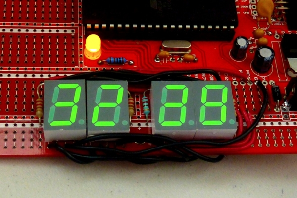 Digital stopwatch using microcontroller