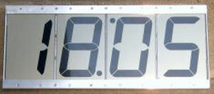LCD clock with 4 display