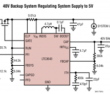 LTC3643 – 2A Bidirectional Power Backup Supply