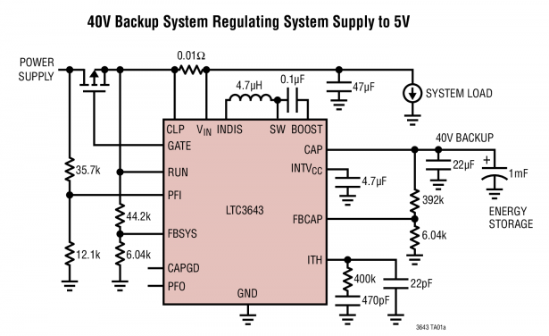 LTC3643 - 2A Bidirectional Power Backup Supply