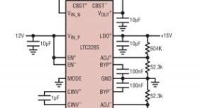 Power supply IC generates low-noise bipolar (+/-) power rails
