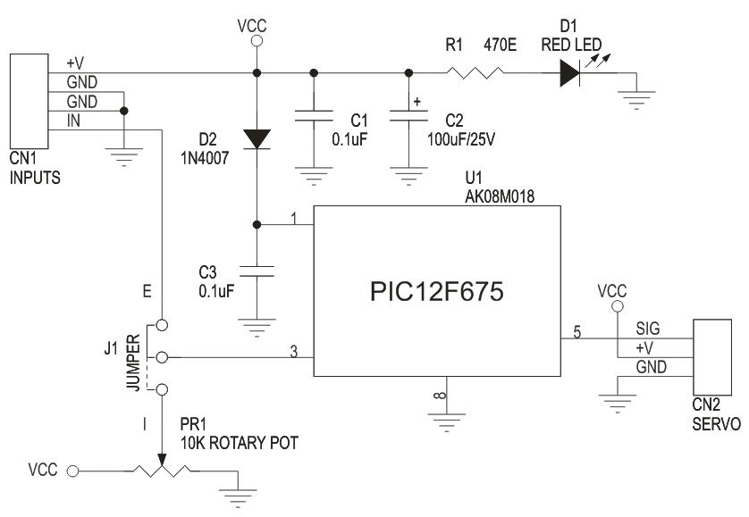 RC Servo Driver 0-5V