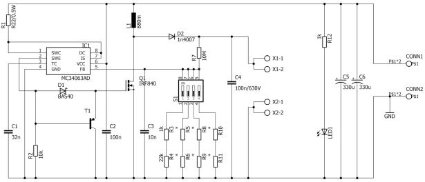 5V 400V DCDC converter