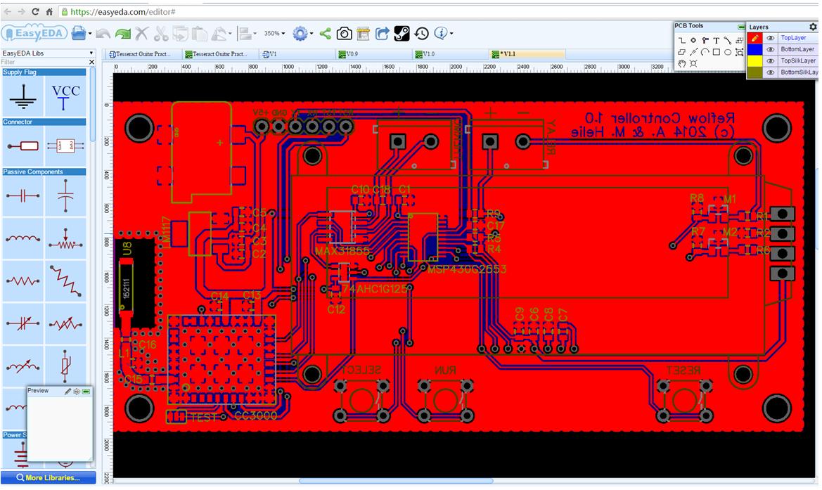 Circuit simulator and PCB design software - EasyEDA