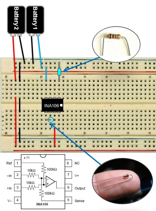 DIY Muscle Sensor EMG Circuit for a Microcontroller Schematic