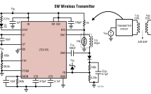 LTC4125 – 5W AutoResonant Wireless Power Transmitter