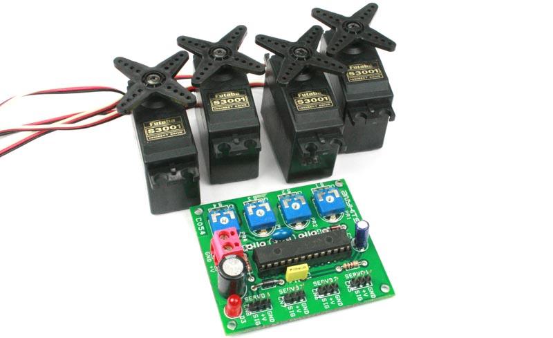 4 Channel RC Servo Controller Board