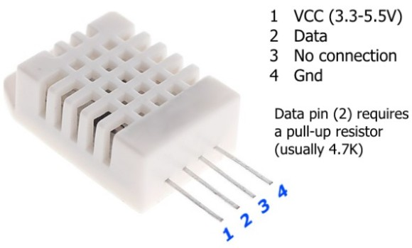 DHT22 pin diagram