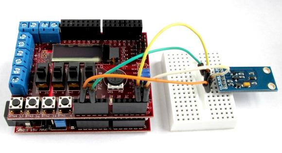 Digital light meter project setup