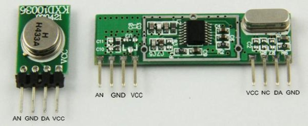 How to do serial comms using the cheap RF 433 315 MHz modules