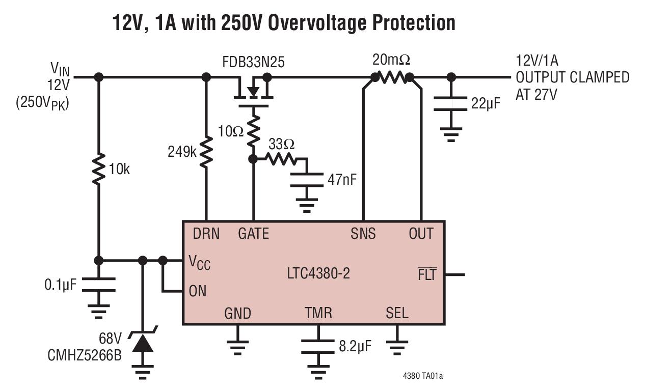 LTC4380 - Low Quiescent Current Surge Stopper