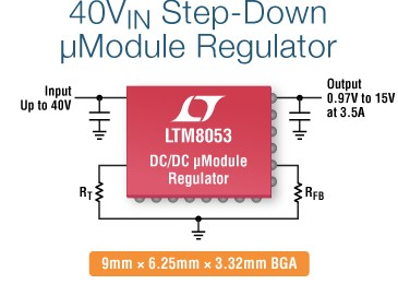 LTM8053 40VIN, 3.5A 6A Step Down μModule Regulator