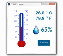 chipKIT Project 2: Temperature and relative humidity logger