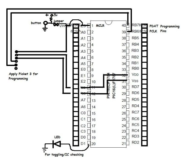 PIC16F1787 Programmer Board (for Almost all 40 pin 16Fxxx) schematic
