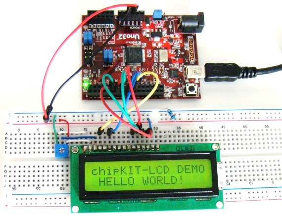 Printing text on LCD screen