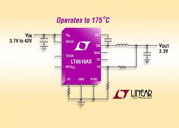buck regulator operates at 175°C ambient