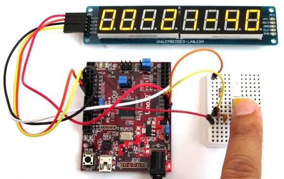 chipKIT digital stopwatch project illustration