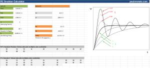 snubber calculator spreadsheet