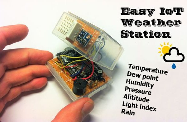 weather station with multiple sensors