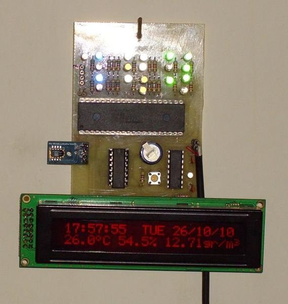 Digital & Binary clock with thermometer & hygrometer