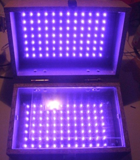 LED UV exposure box